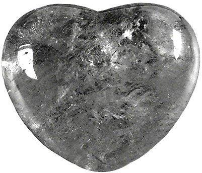 Arc-En-Ciel Fantastique Coeur Cristal de Roche 45 mm - La pièce