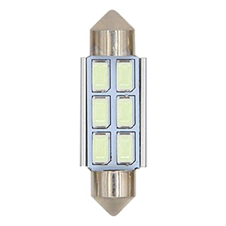 RUNGAO - Bombilla LED para coche, 2 unidades, 6 SMD, diseño de cúpula