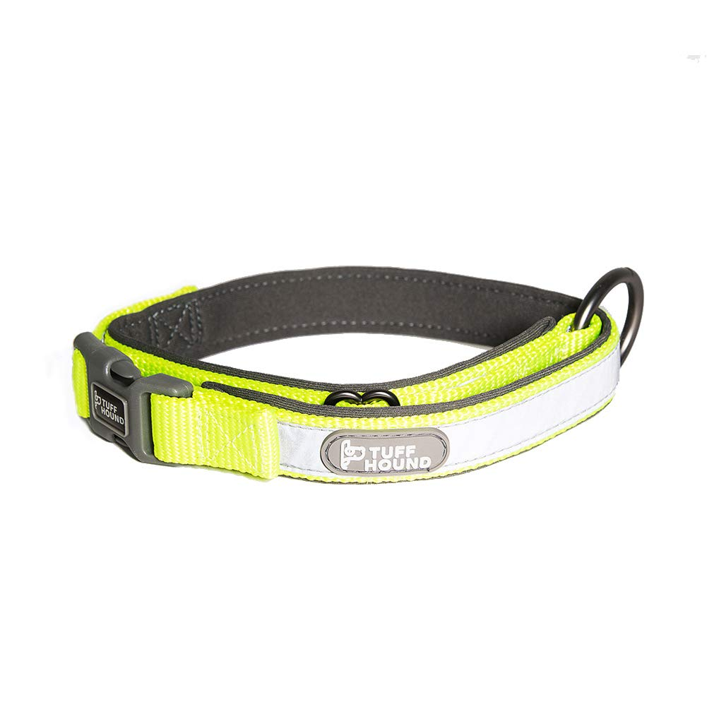 Green Large Green Large Pet Reflective Collar, Adjustable Pet Soft and Comfortable 3M Reflective Dog Collar Nylon Pet Collar Breathable and Durable for All Kinds of Dog