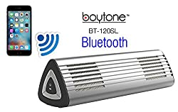 Boytone Bt-120sl Portable Wireless Bluetooth Speaker, Built-in Microphone, 2 Stereo Speaker, Rechargeable Battery. Aluminum Casing. Works With Iphone, Ipad, Samsung, Tablets & Other Smart Phones