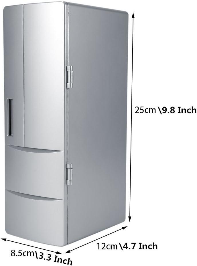 Broco Compacto Mini USB del congelador de refrigerador Beber latas de Cerveza del refrigerador del Recorrido del Calentador del Coche Uso de la Oficina