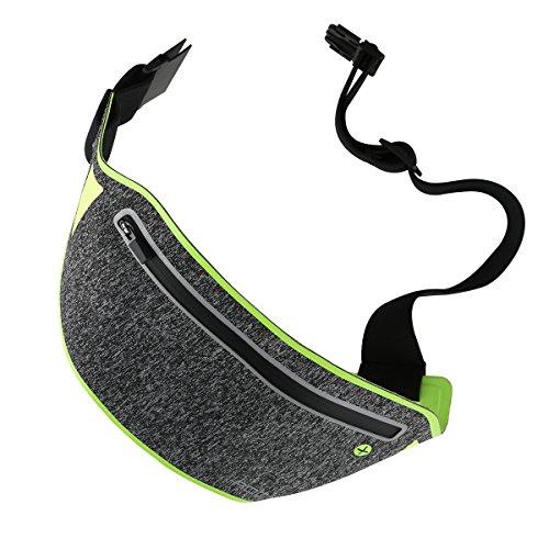 ROCK Slim Sport Waist Belt, Ultra Light Bounce Free Sweatproof Waist Pouch Fitness Workout Belt Sport Waist Pack Exercise Waist Bag for All Smartphones up to 6''