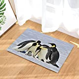 NYMB Sea Animals Decor, Emperor Penguins with Chick Fight for Adopting Bath Rugs, Non-Slip Doormat Floor Entryways Indoor Front Door Mat, Kids Bath Mat, 15.7x23.6in, Bathroom Accessories