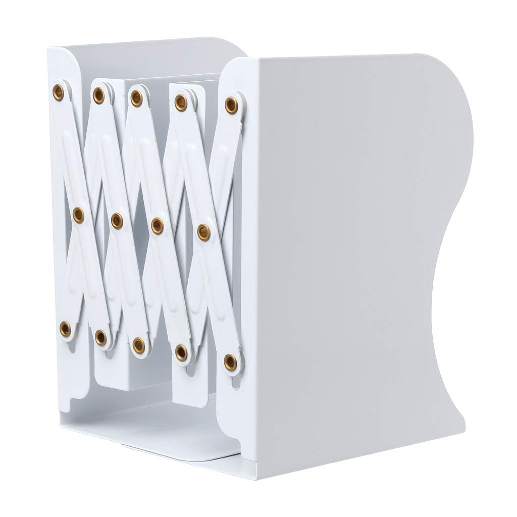 CADANIA Reggilibri Regolabili in Metallo per prolunghe Cartelletta per Libri Desktop Resistente a Scomparsa Supporto per scaffali per scaffali da scaffale Nero
