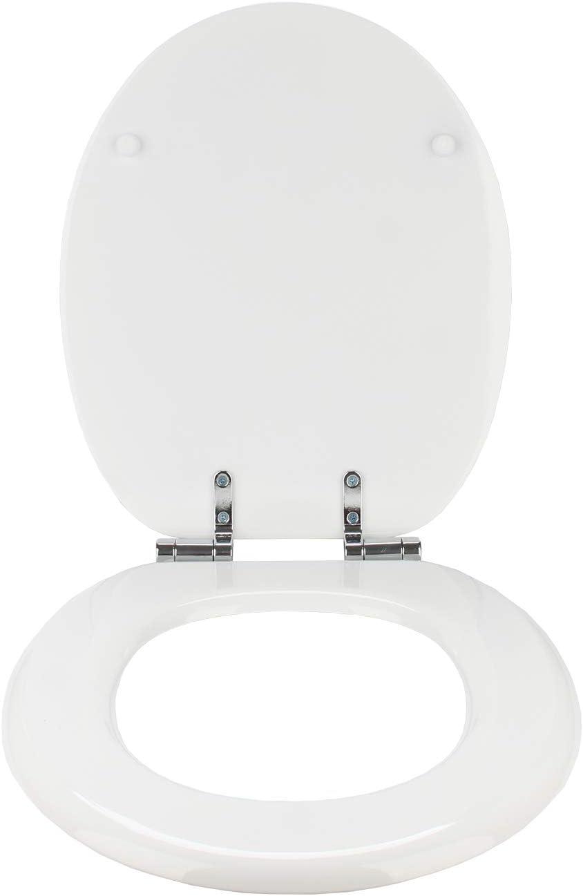 wolketon Sedile WC con sedile wc Soft Close Coperchio coperchio WC in legno antibatterico in MDF per bagno di famiglia