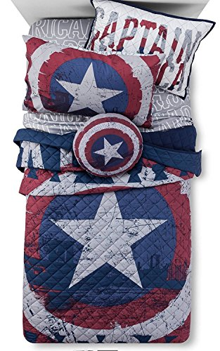 Marvel Captain America Quilt / Sham & SUPER HEROES Sheet Set