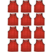 BlueDot Trading Youth High Quality Sports Pinnies - 12 Pack