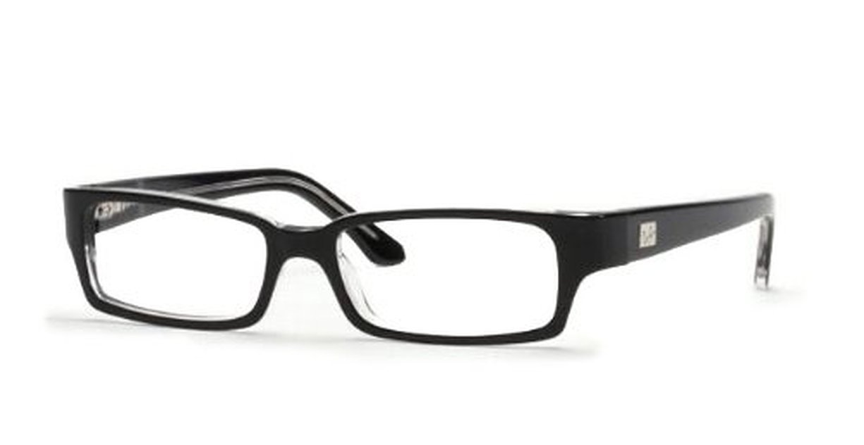 Ray Ban RX 5092 Top Black On Transparent (rx5092-2034)-52 52: Amazon ...