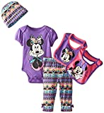 Disney Baby Girls' Minnie Mouse 5 Piece Set Aztec Theme, Purple, 0-6 Months