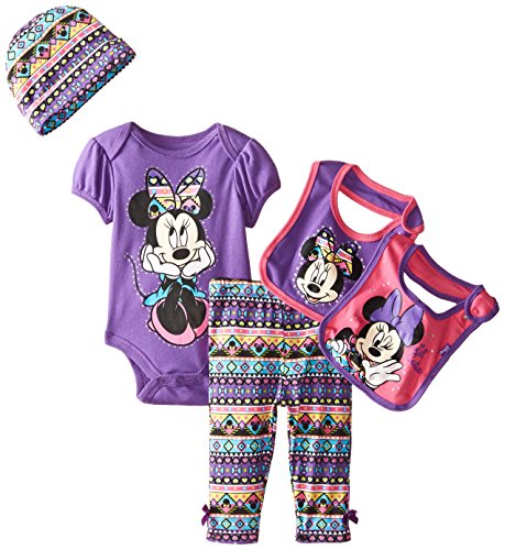 Disney Baby Girls' Minnie Mouse 5 Piece Set Aztec Theme, Purple, 0-6 Months