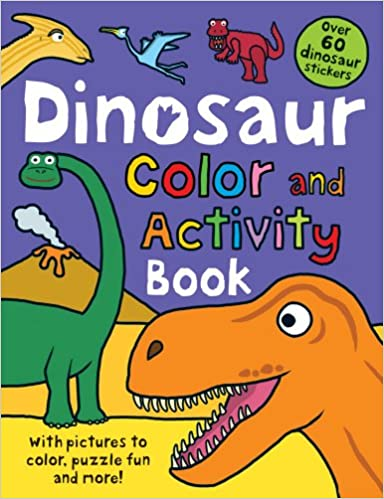 Color And Activity Books Dinosaur With Over 60 Stickers Pictures To Puzzle Fun More Roger Priddy 9780312513290 Amazon