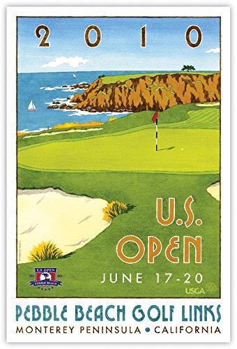 Signed 2010 U.S. Open Pebble Beach Print by Lee Wybranski