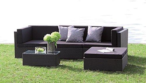 poly rattan lounge set kampen absolut wetterfest. Black Bedroom Furniture Sets. Home Design Ideas