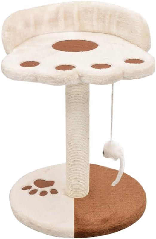 vidaXL Rascador para Gatos con Poste de Sisal 40cm Beige y Marrón Mascotas: Amazon.es: Productos para mascotas
