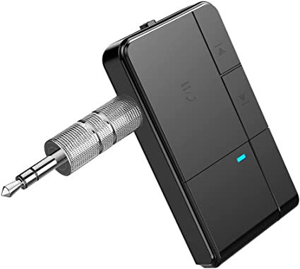 TaoTronics Bluetooth Receiver Portable Wireless Car Aux Adapter 3.5mm Stereo ...