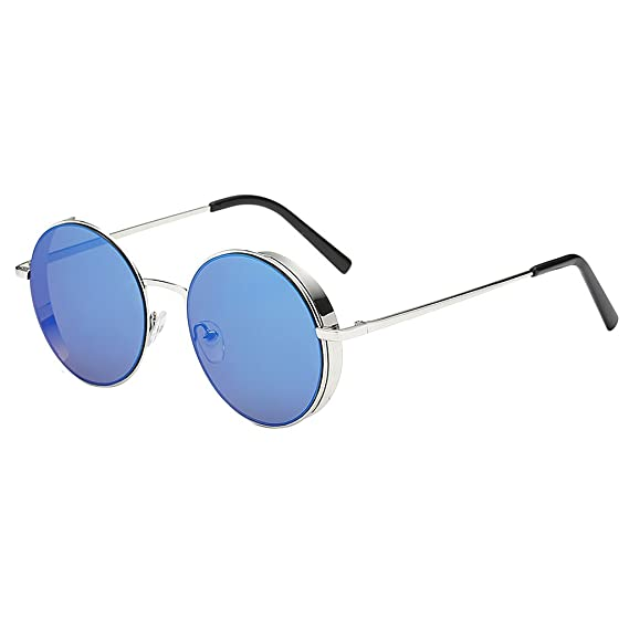 MagiDeal Gafas de Sol De Moda Hermosa Cara Unisex Redondas ...