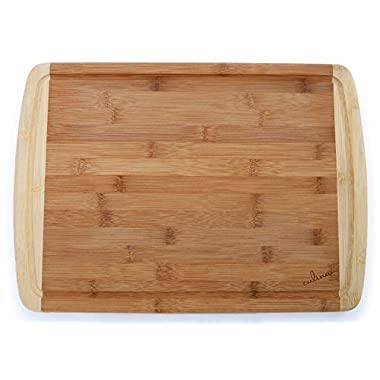 Culina Bamboo 1  Cutting Board, Carved Drain, Large 17.5  X 12.5