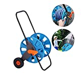 Durable Hand Push Hose Reel Storage Rack Water Pipe Shelf Portable Washing Bracket For Garden And Farm,blue