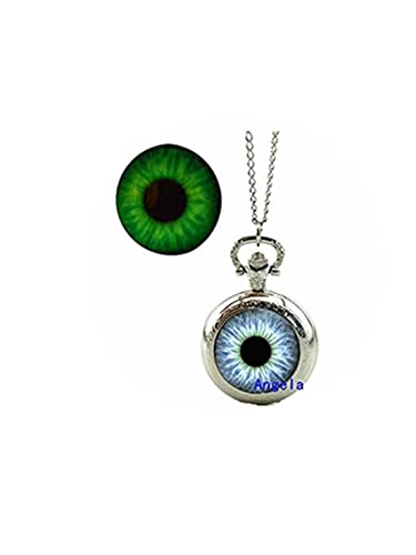 9bfd28cf7eb Amazon.com  Glow in The Dark Glass Dome Jewelry Cat Eye Locket ...