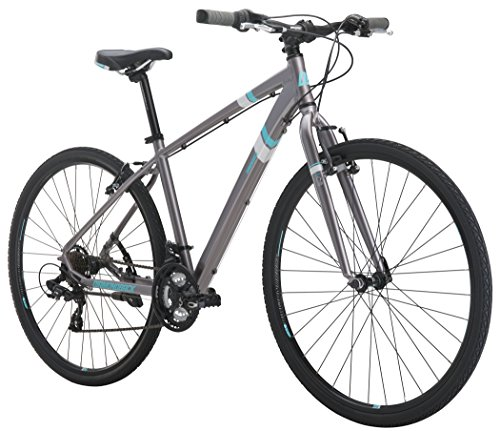 Diamondback Bicycles Calico St Women's Dual Sport Bike Small/16 Frame, Silver, 16