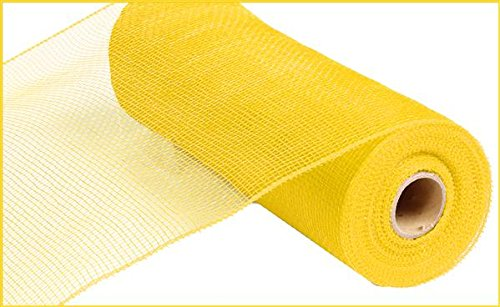 (10 inch x 30 feet Deco Poly Mesh Ribbon - Value Mesh (Yellow))