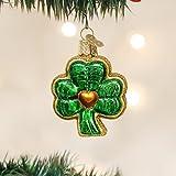 Old World Christmas Shamrock Glass Blown Ornament