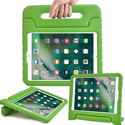 AVAWO New iPad 9.7 2017 Model Kids Case - Light Weight Shock Proof Convertible Handle Stand Friendly Kids Case for Apple iPad 9.7-inch 2017 Latest Gen / iPad Air / iPad Air 2 Tablet - Green - Green Ipad Case