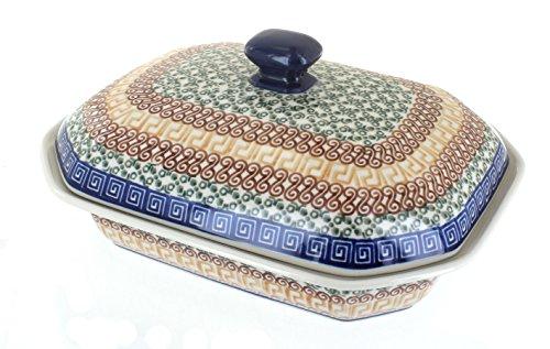 Polish Pottery Athena Medium Covered Baking Dish by Ceramika Artystyczna