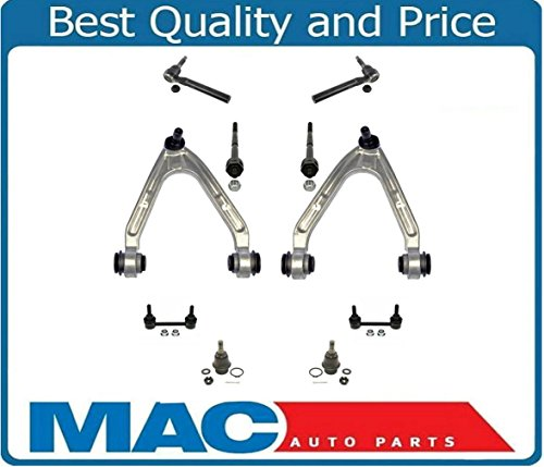 Mac Auto Parts 136870 Hummer H3 Pc Chassis Kit Upp Arms Low Ball Joints Tie Rod Sway Bar Links