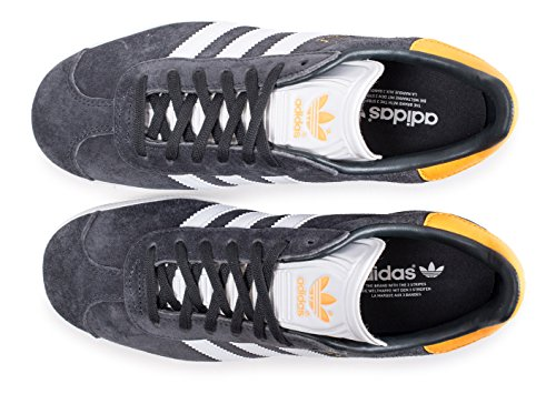 Adidas Gazelle, Baskets mode homme, gris (Carbon/Ftwbla/ororea)