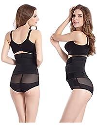 Waist Trimmer Belt-Postpartum Girdle Adjustable Belly Band Wrap Body Shaper Wrapper
