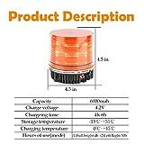 LE-JX Amber Wireless Rotating Beacon Orange Battery