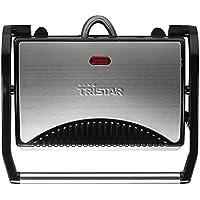 Tristar GR-2846 - Grill para panini, color negro y plateado
