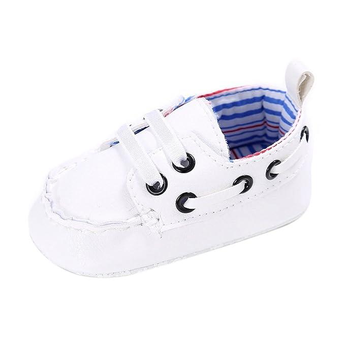 Amazon.com: Lurryly Zapatos de bebé niño niña recién nacido ...