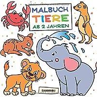 Malbuch Tiere ab 2 Jahren: Die bunte Welt der Tierkinder