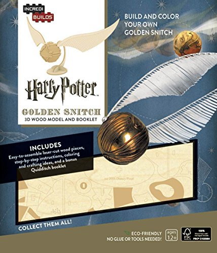 Insight Editions Harry Potter Golden Snitch 3D Wood Model &