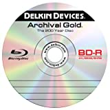 Delkin Devices DDBD-R/SINGLE 4X-HT Retail Single BD-R in an Archival Poly Jewel Case with Hang Tab