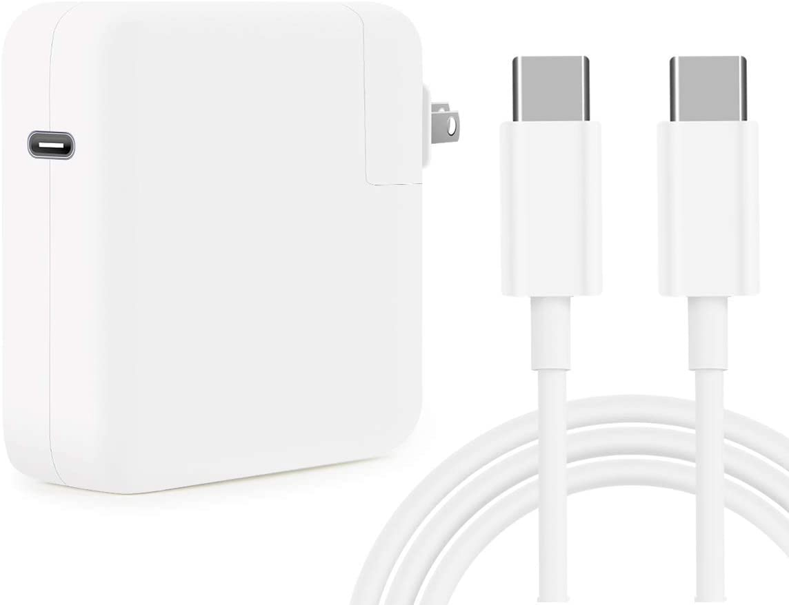 Replacement Mac Book Pro Charger, 61W USB C Charger Power Adapter for MacBook Pro 13 Inch 12 Inch, MacBook 13 Inch 12 Inch, MacBook Air 2018, ipad pro,Included USB-C to USB-C Charge Cable (6.6ft/2m)