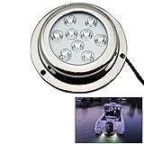 Outdoor Lights Stainless Steel 27W White Light Cree LED Underwater Boat Marine Light Lamps for Boat Yacht, DC 8-28V Garden Lights