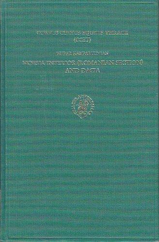 Corpus Cultus Equitis Thracii - Ccet: Moesia Inferior - Romanian Section and Dacia (Etudes Preliminaires Aux Religions Orientales Dans L'Empire)