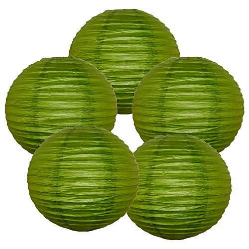 Just-Artifacts-10-Grass-Green-Paper-Lanterns-Set-of-5-Click-for-more-ChineseJapanese-Paper-Lantern-Colors-Sizes