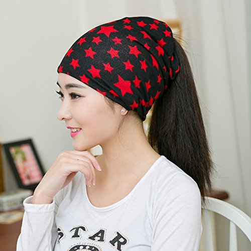 Spring New Arrival Red Star Color Women's Hats Adjustable Size Beanie Girls Skullies Winter Hats For Women Autumn Thin Hat