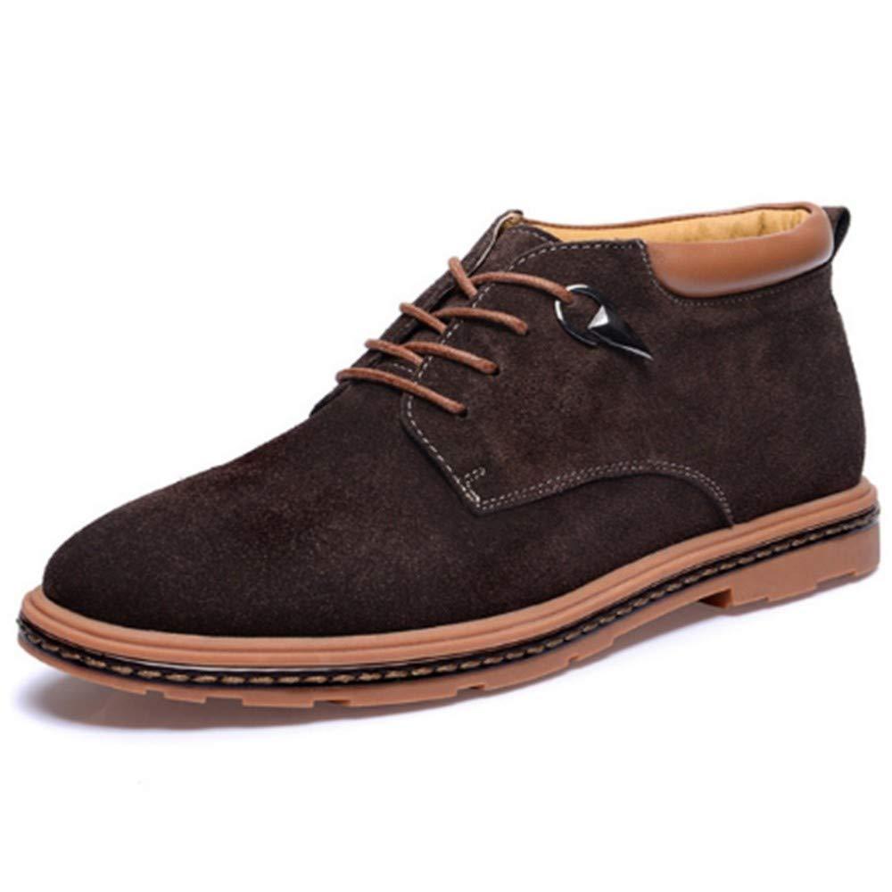 FMWLST Stiefel Men's Ankle Stiefel Stiefel Stiefel WildPU Stiefel Spitze Oxford Schuhe Outdoor-High-Top-Freizeitschuhe Herren Schneeschuhe b4e38a