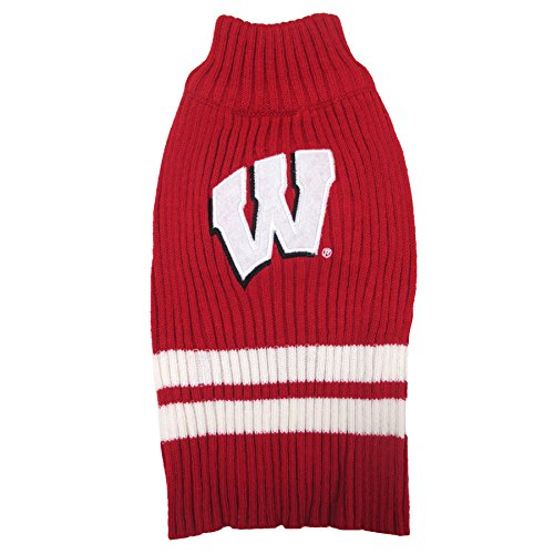 Pets First Collegiate Wisconsin Badgers Pet Sweater, - In Outlet Stores Wisconsin