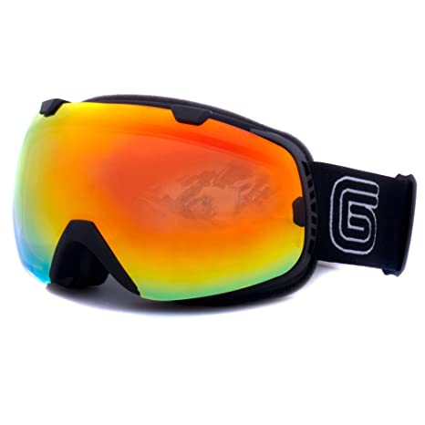 7eb21f9ba07 Image Unavailable. Image not available for. Color  Grayne GTO Blackout Ski  Snowboard Goggles ...