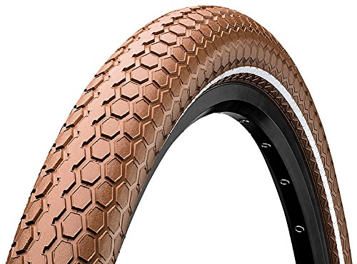 Continental Ride Cruiser ETRTO (55-622) 700 X 55 REFLEX Bike Tires, Brown (Cruiser Ride)