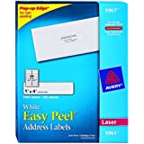 Avery Easy Peel Address Labels for Laser Printers, 1 x 4 Inches, White, 20 Up, 250 Sheets (05961)