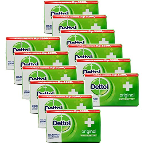Dettol Anti-Bacterial Hand and Body Bar Soap, Original, 110 Gr/3.88 Oz (Pack of 12) by Dettol