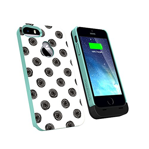 Maxboost Ambrosia Designer iPhone 5S Battery Case   iPhone 5 Battery Case   Matte Black  3a902f925