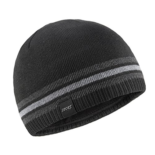 OMECHY Mens Winter Beanie Hat Warm Cuff Toboggan Knit Ski Skull Cap